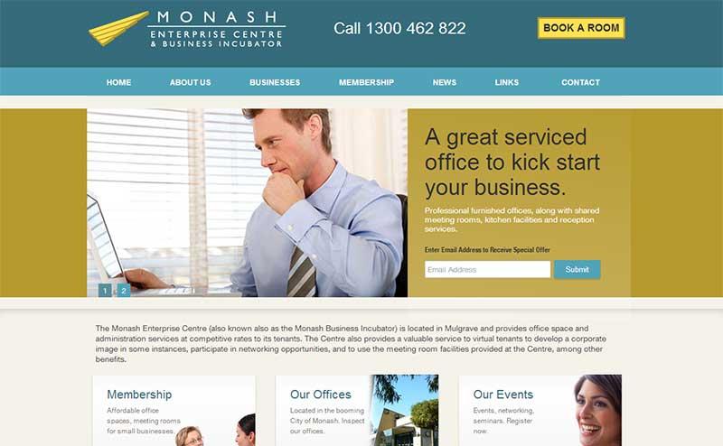 monash-enterprise-centre-website-screenshot